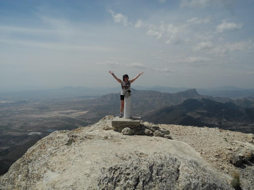 """På toppen av El Maigmo. Også kalt """"Alicantes balkong"""""""